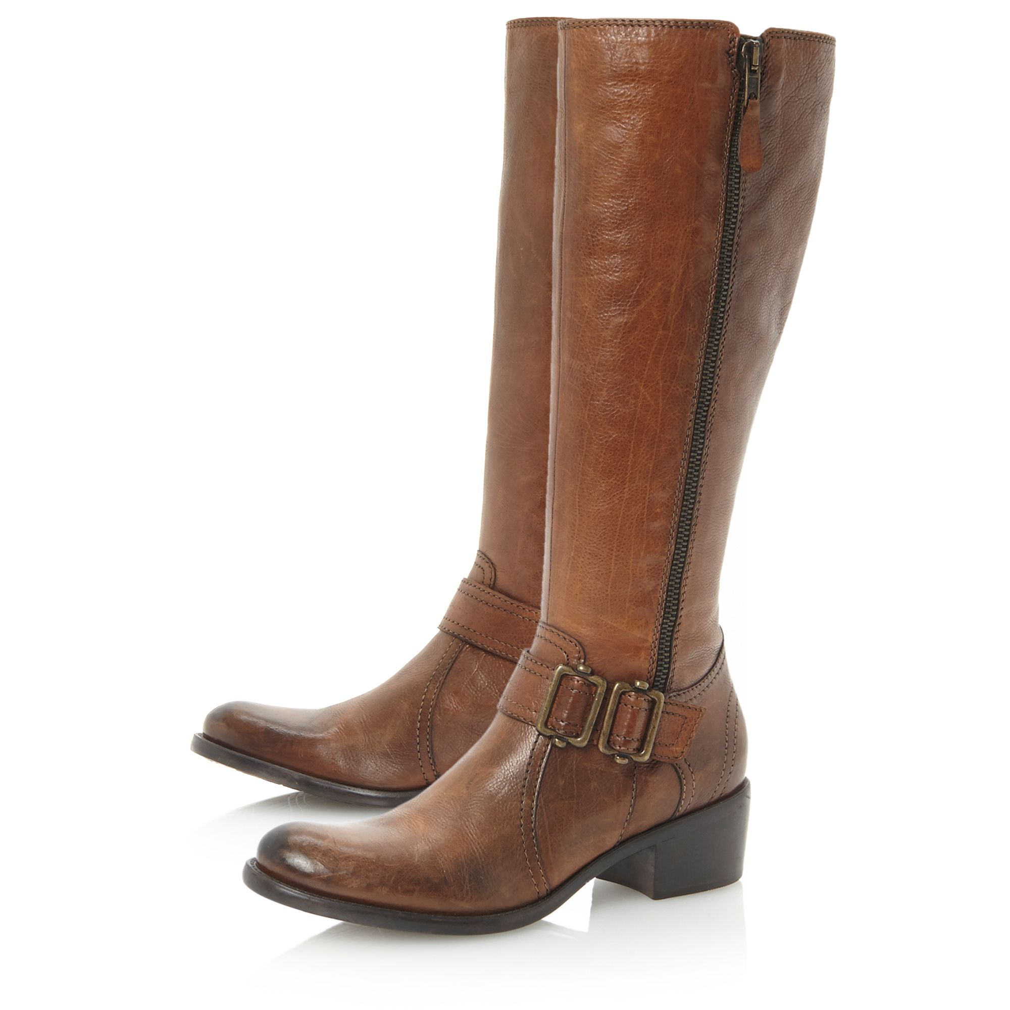 Tatagonia-side zip and buckle detail boots