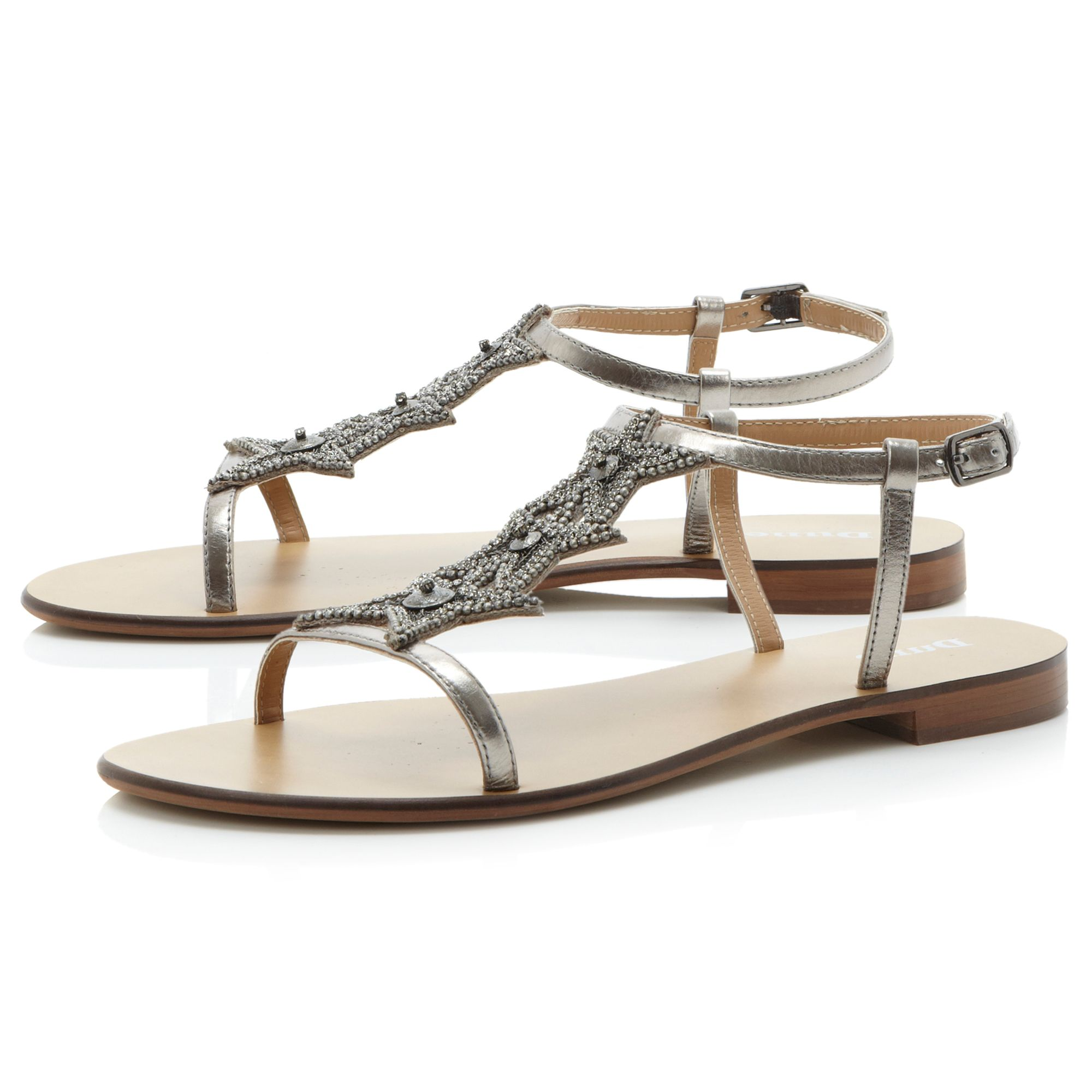 Karry star diamante flat sandals
