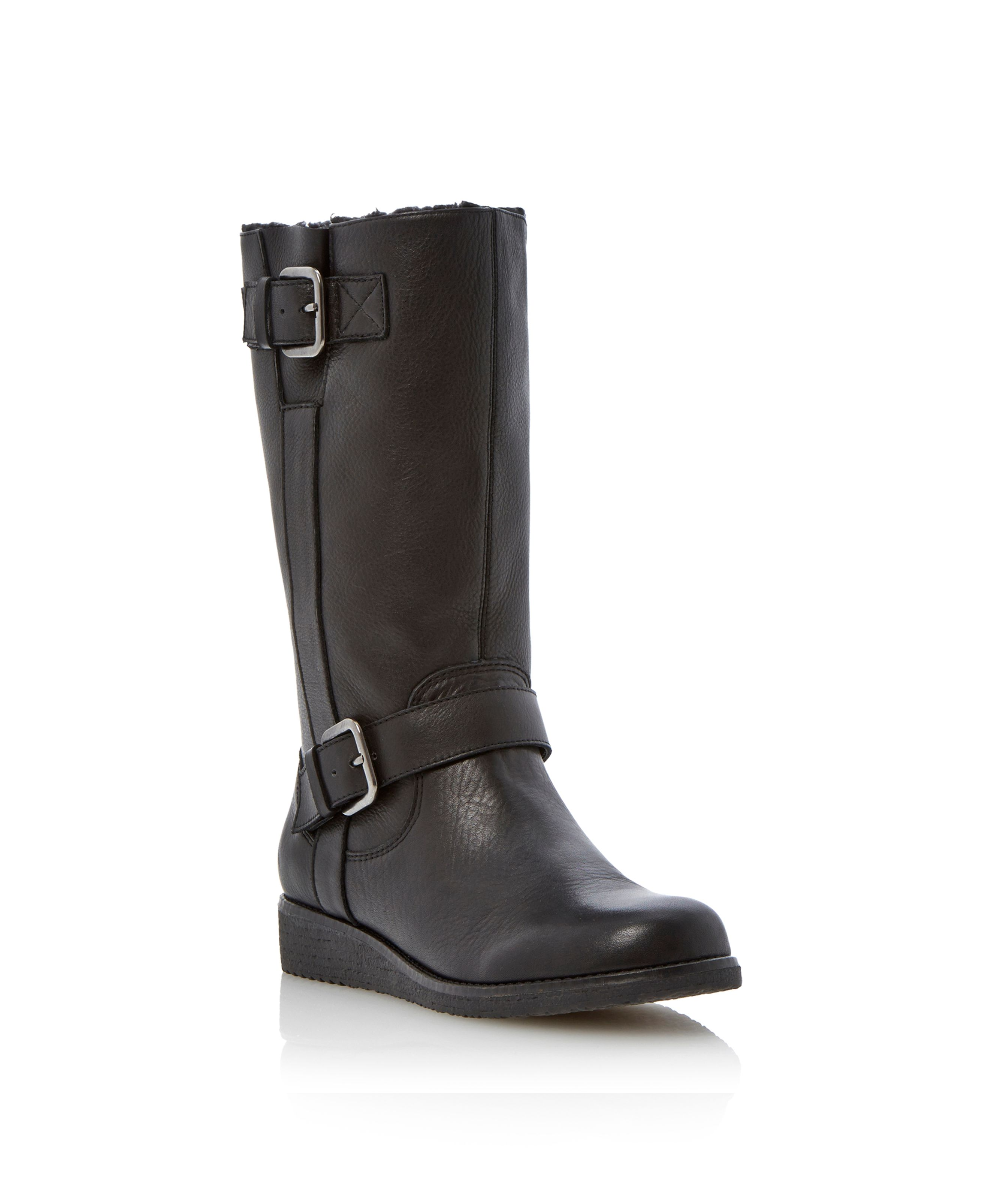 Rits two buckle crepe outsole boots