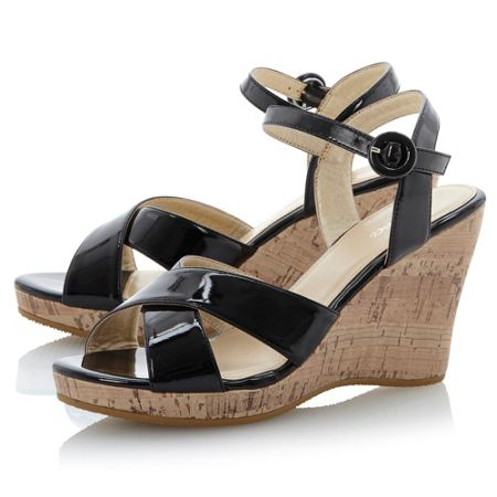 Linea Gallows ankle strap high wedge sandals