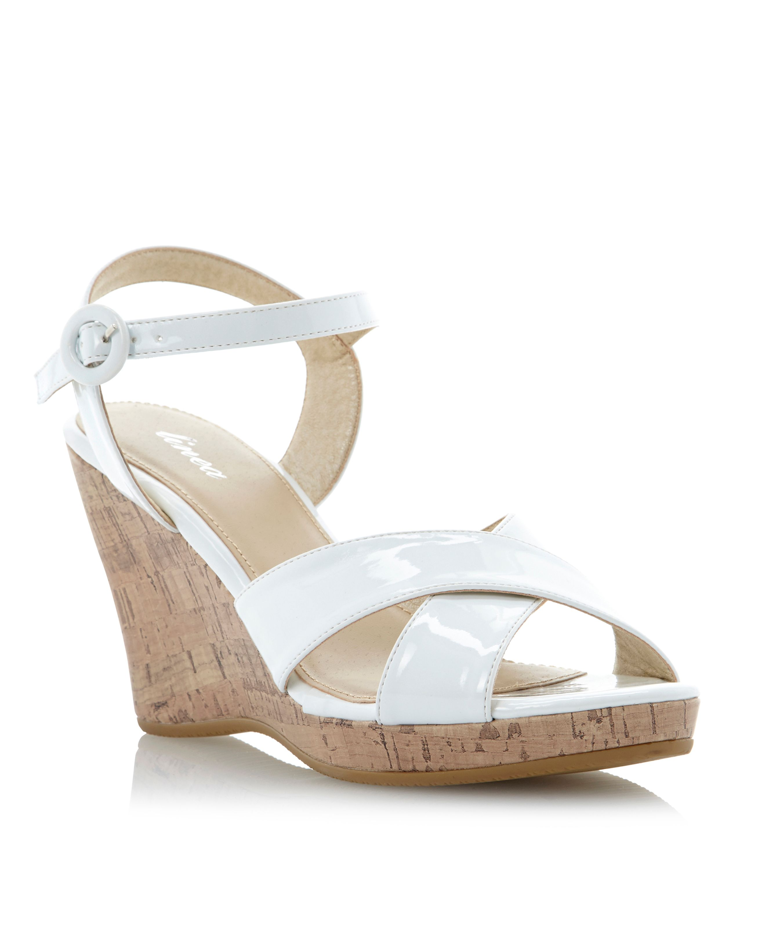 Gallows ankle strap high wedge sandals
