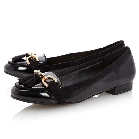 Linea Lambrook-tassle detail loafer shoes