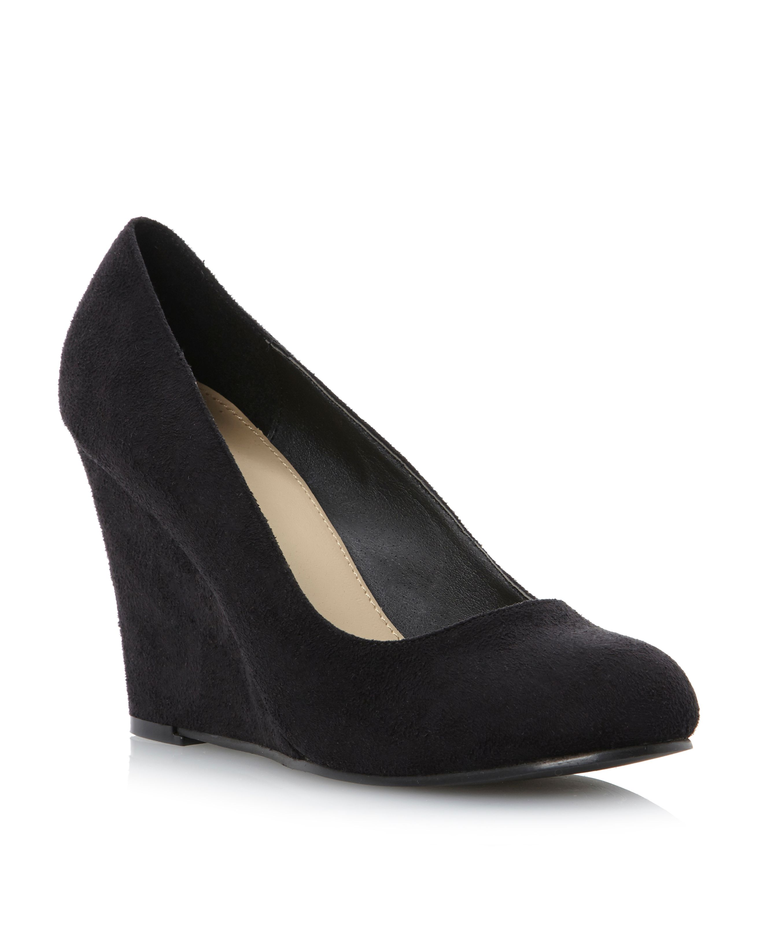 Adlington high heel wedge court shoes