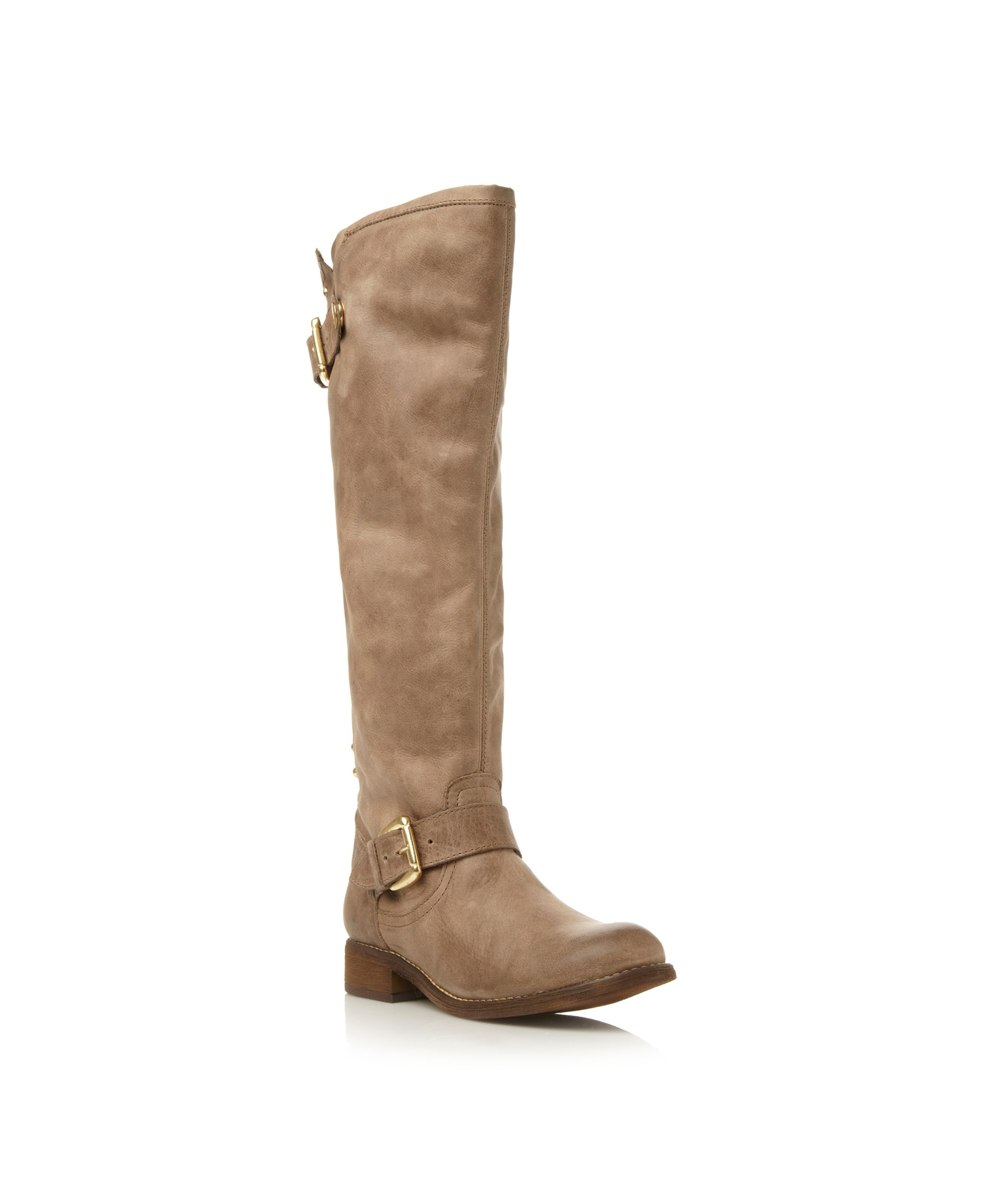 Lynet stud back zip high leg boots