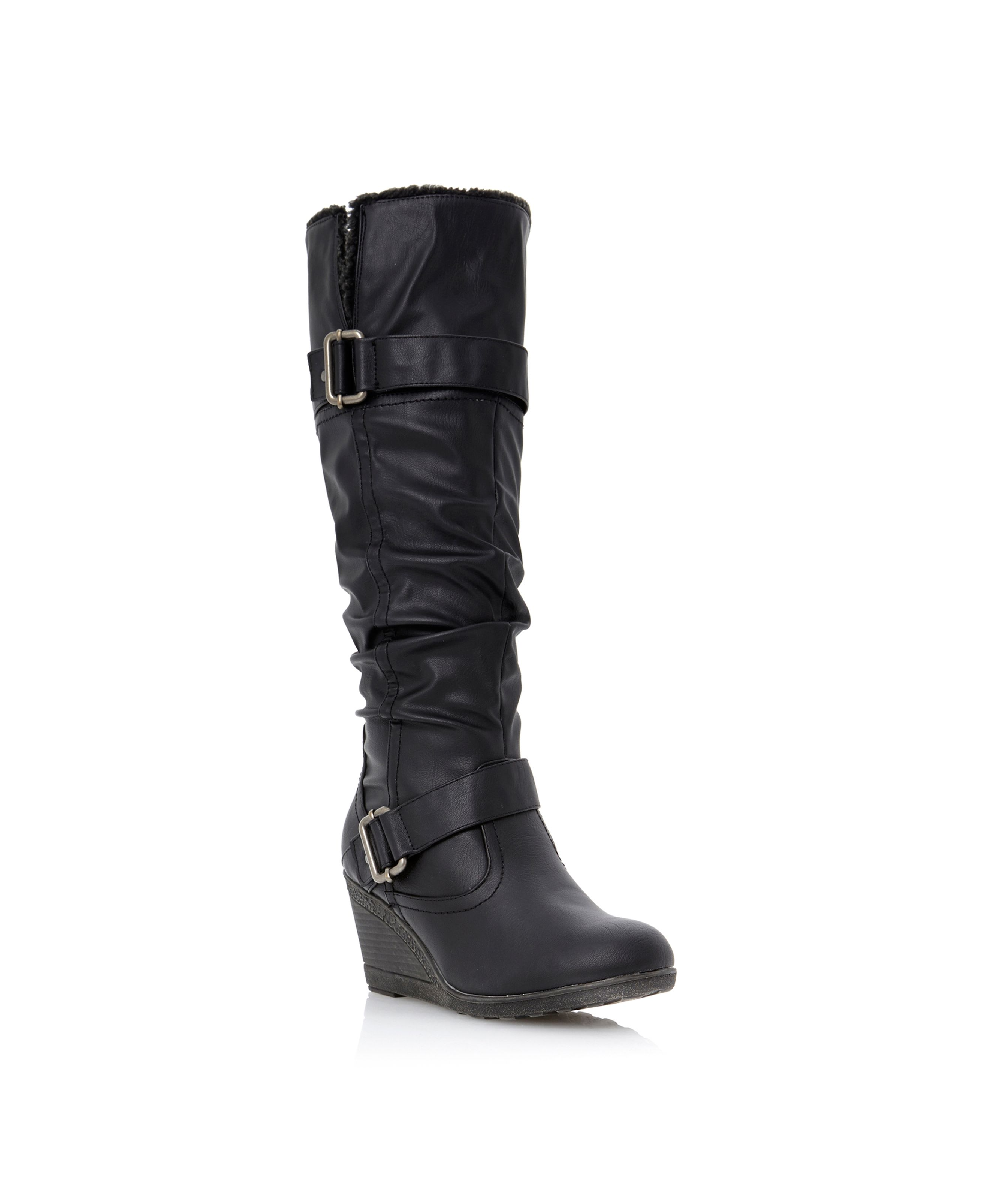 Tyzon-wedge shearlinglined boots