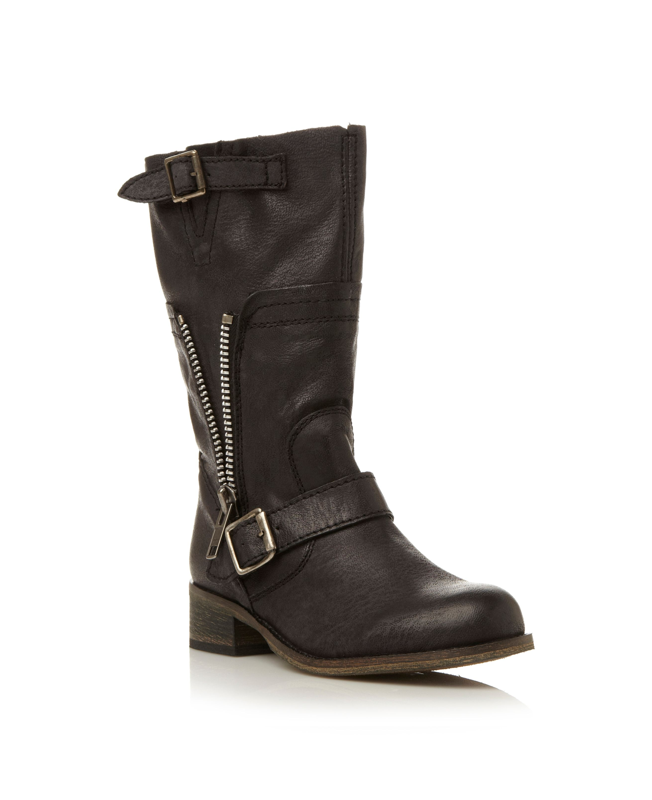 Deziary zip side calf boots