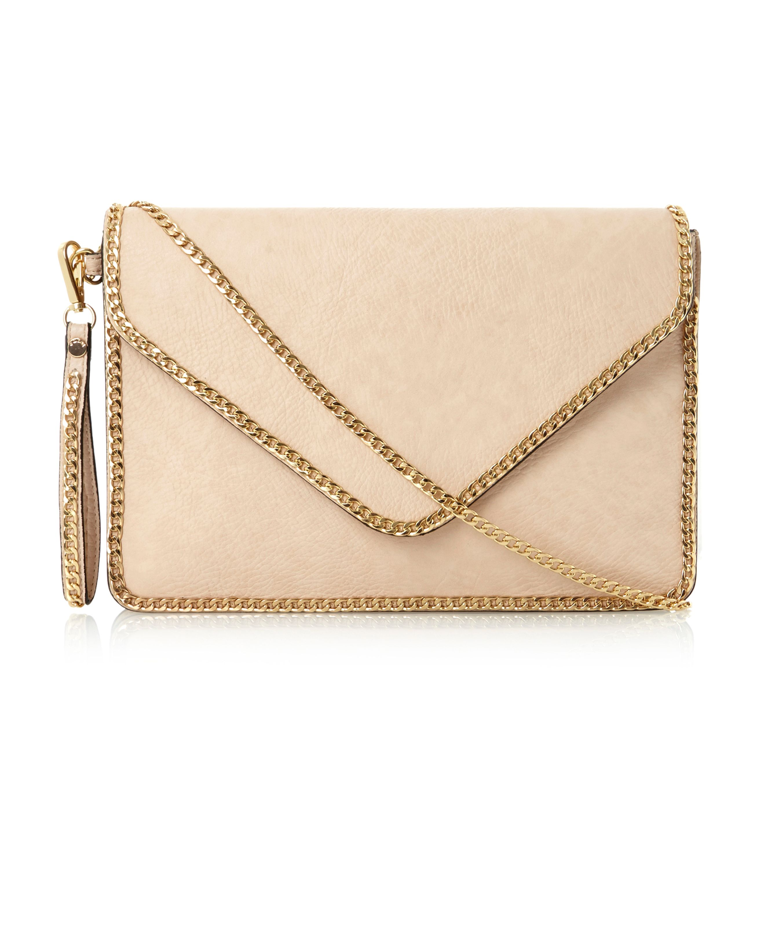 Echainy chain trim clutch bag