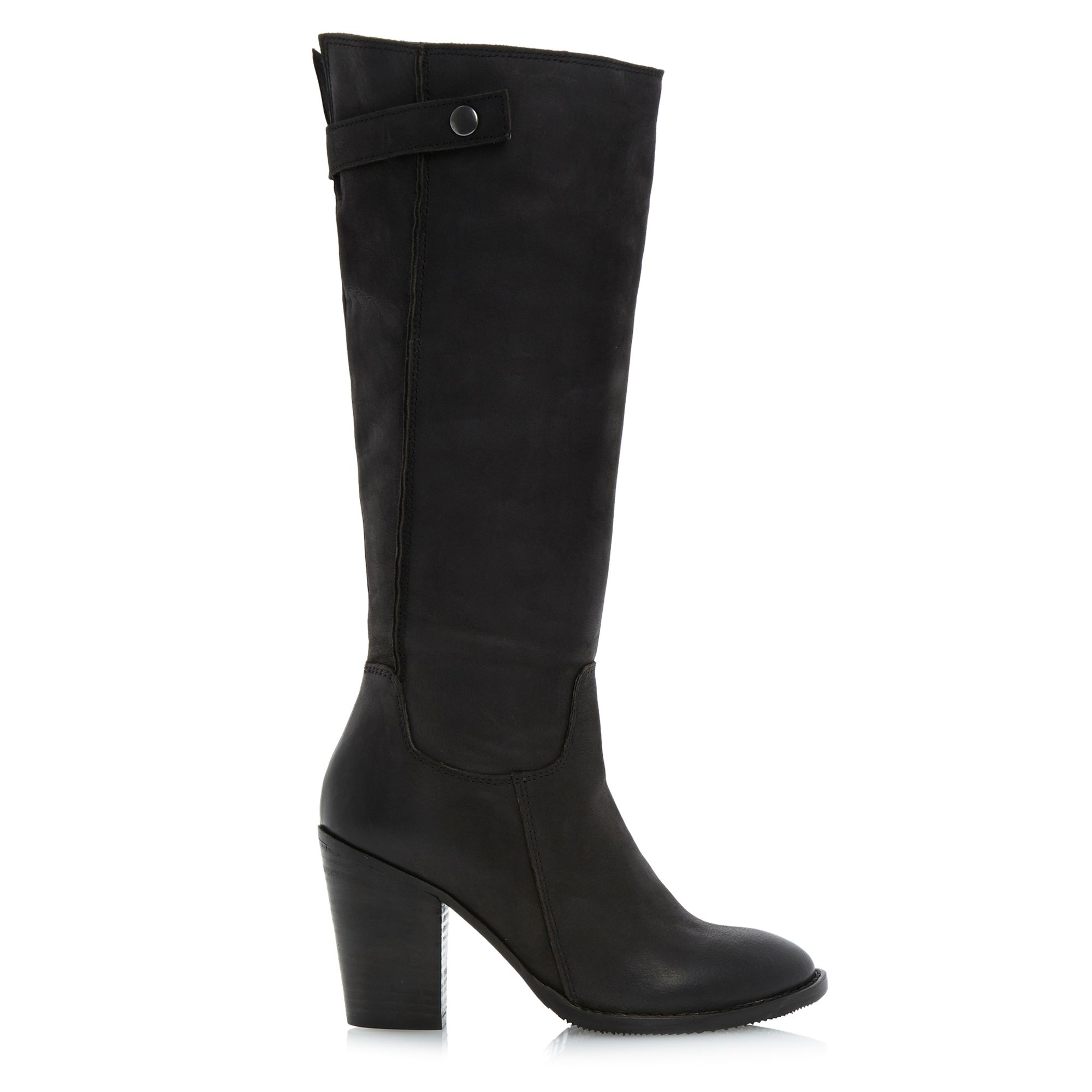 Tamworth folded topline block heel boots
