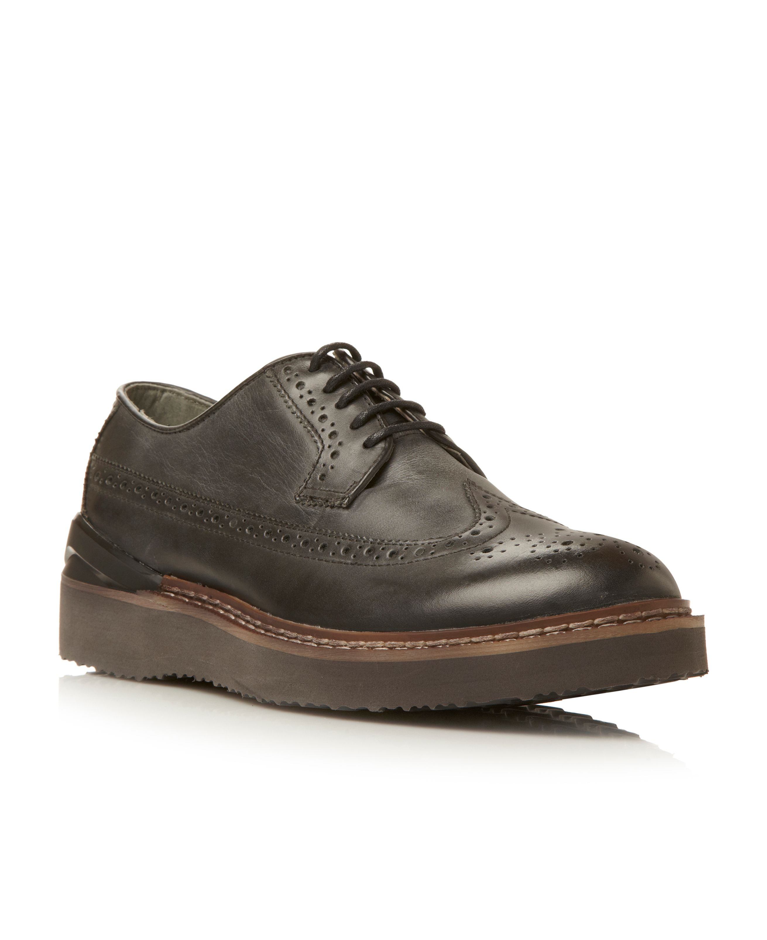 Cachet heavy sport wedge brogue