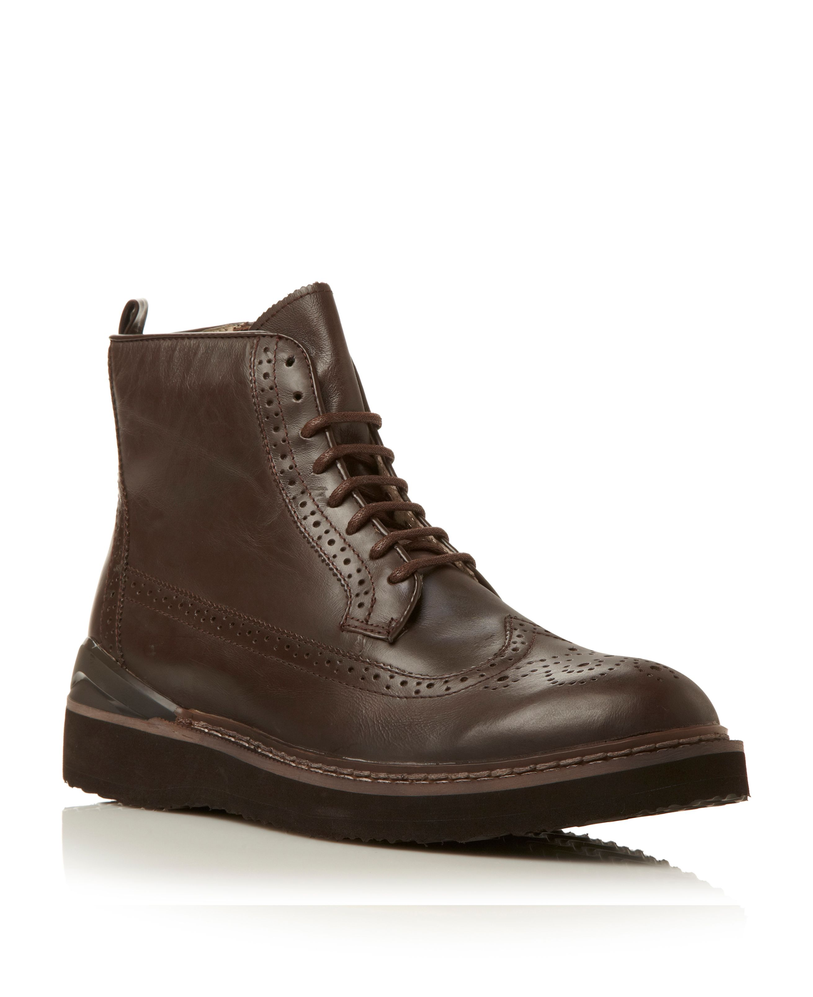 Chrome heavy sport brogue boot