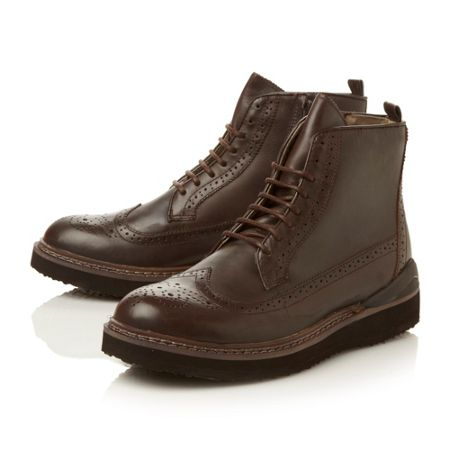 Steve Madden Chrome heavy sport brogue boot