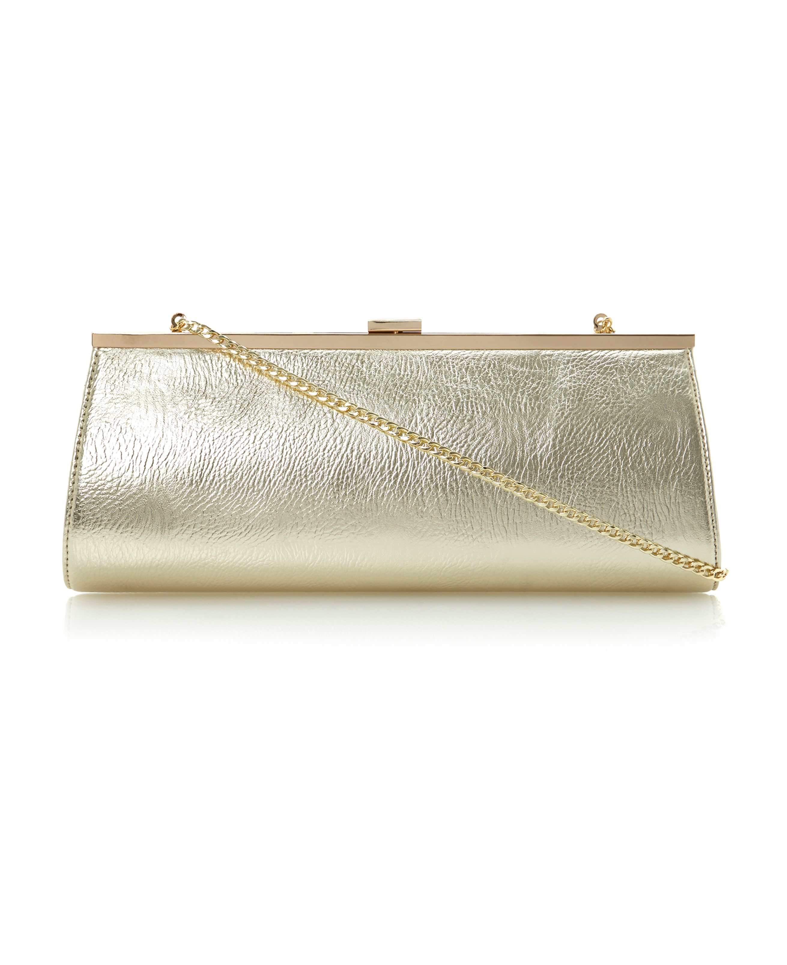 Betallic metallic clutch bag