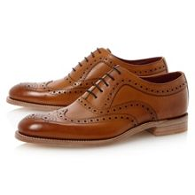 Loake Fearnley wingtip brogue oxford shoes