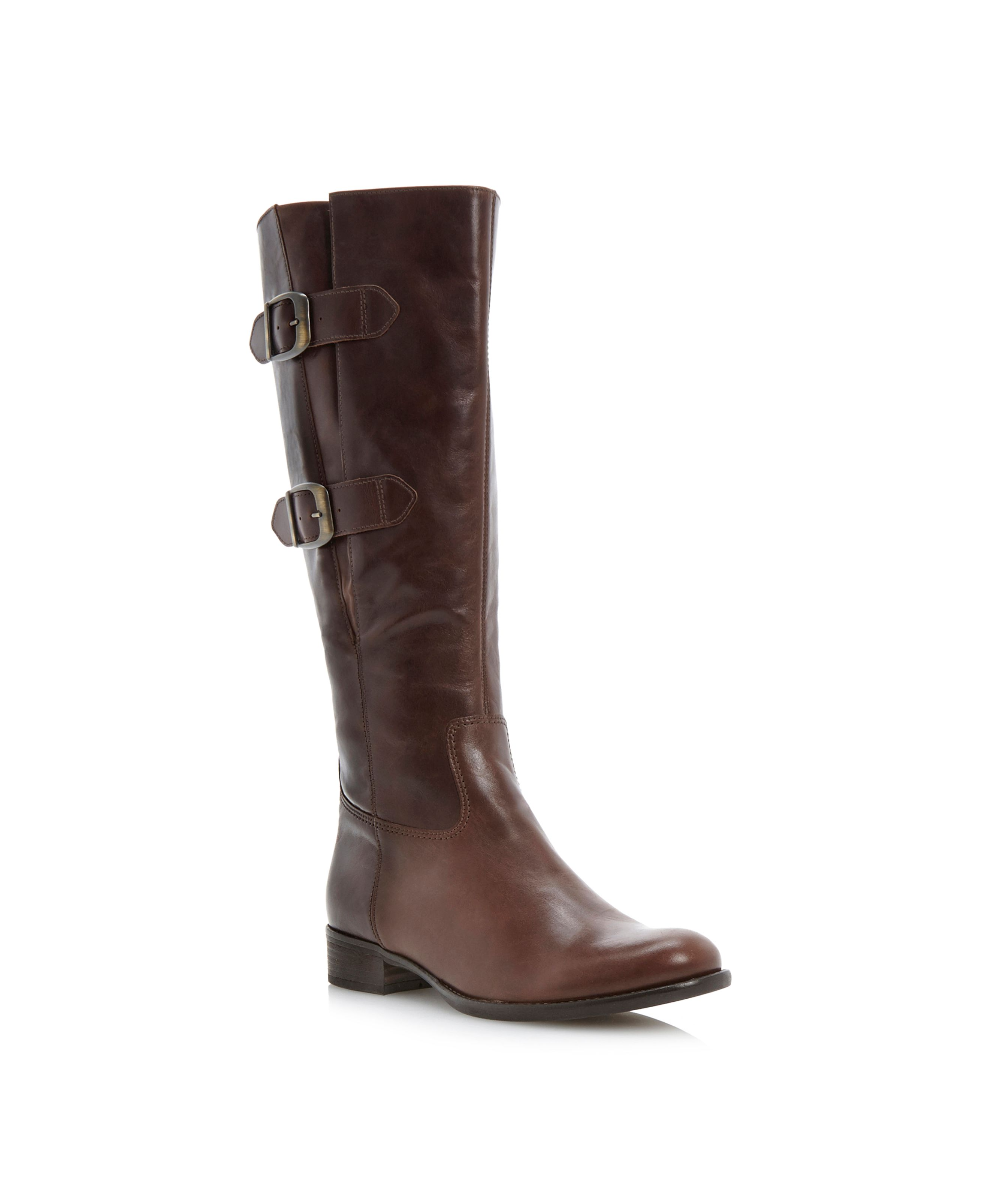 Astoria double buckle riding boots
