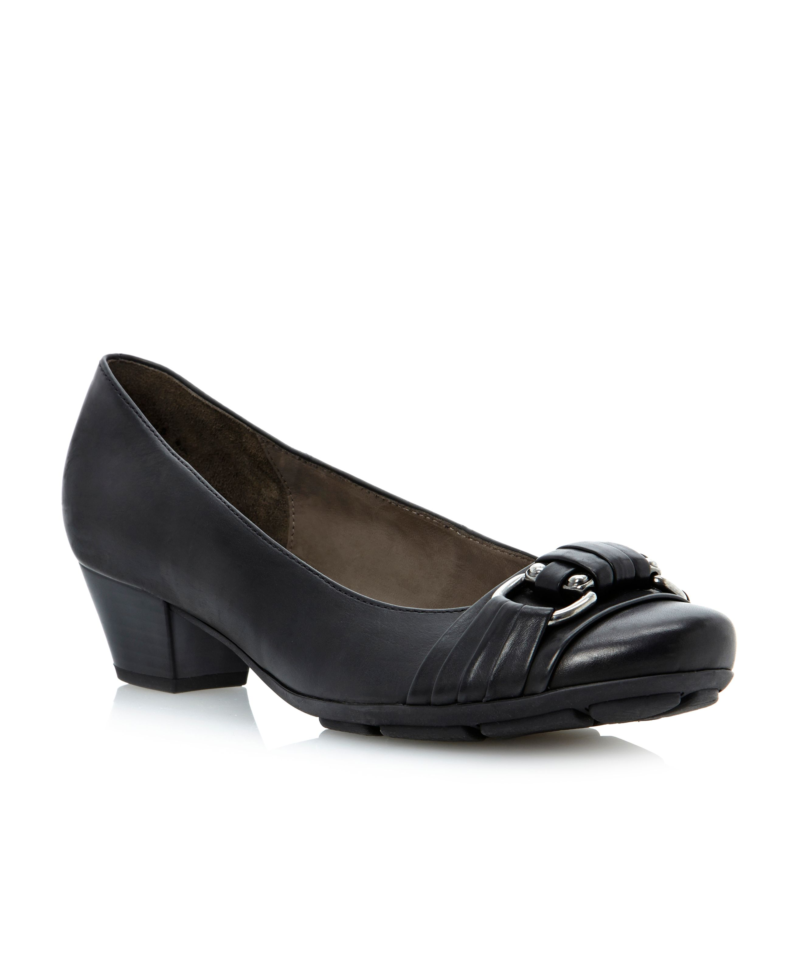 Focus buckle trim court shoes