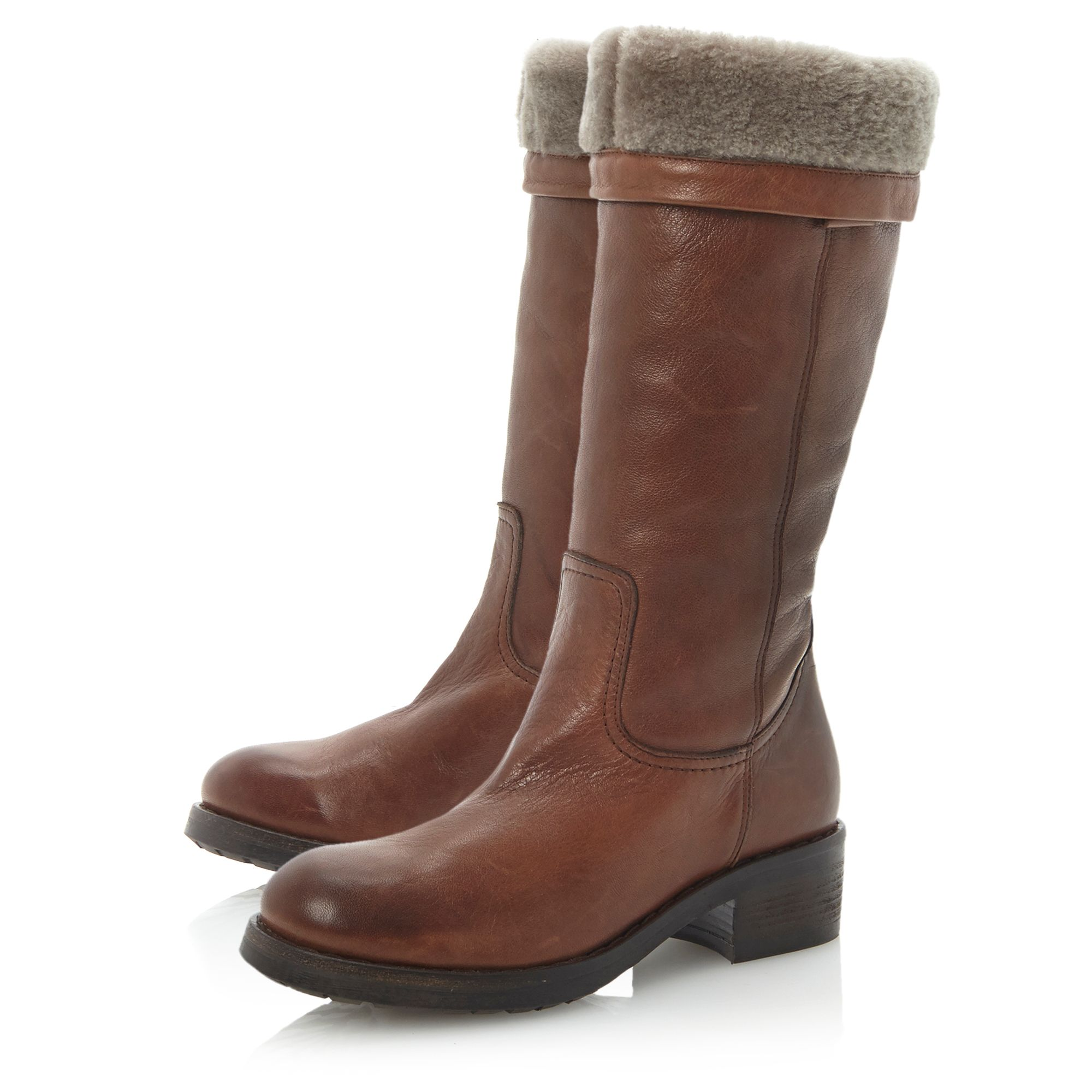 Presto pull on faux fur lined boots