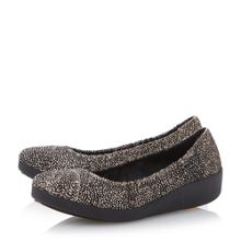 F-pop elasticated print ballerinas