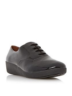 F-pop oxford patent lace up oxford shoes