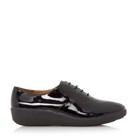 FitFlop F-pop oxford patent lace up oxford shoes