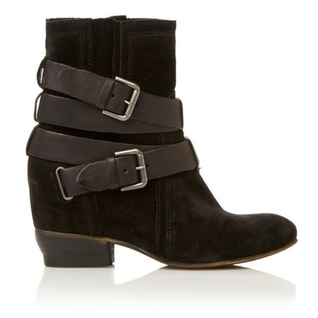 Dune Pitch consealed wedge strap boots