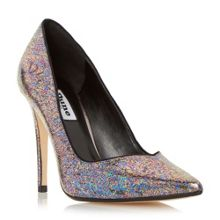 Bronwin metallic sweetheart court shoes