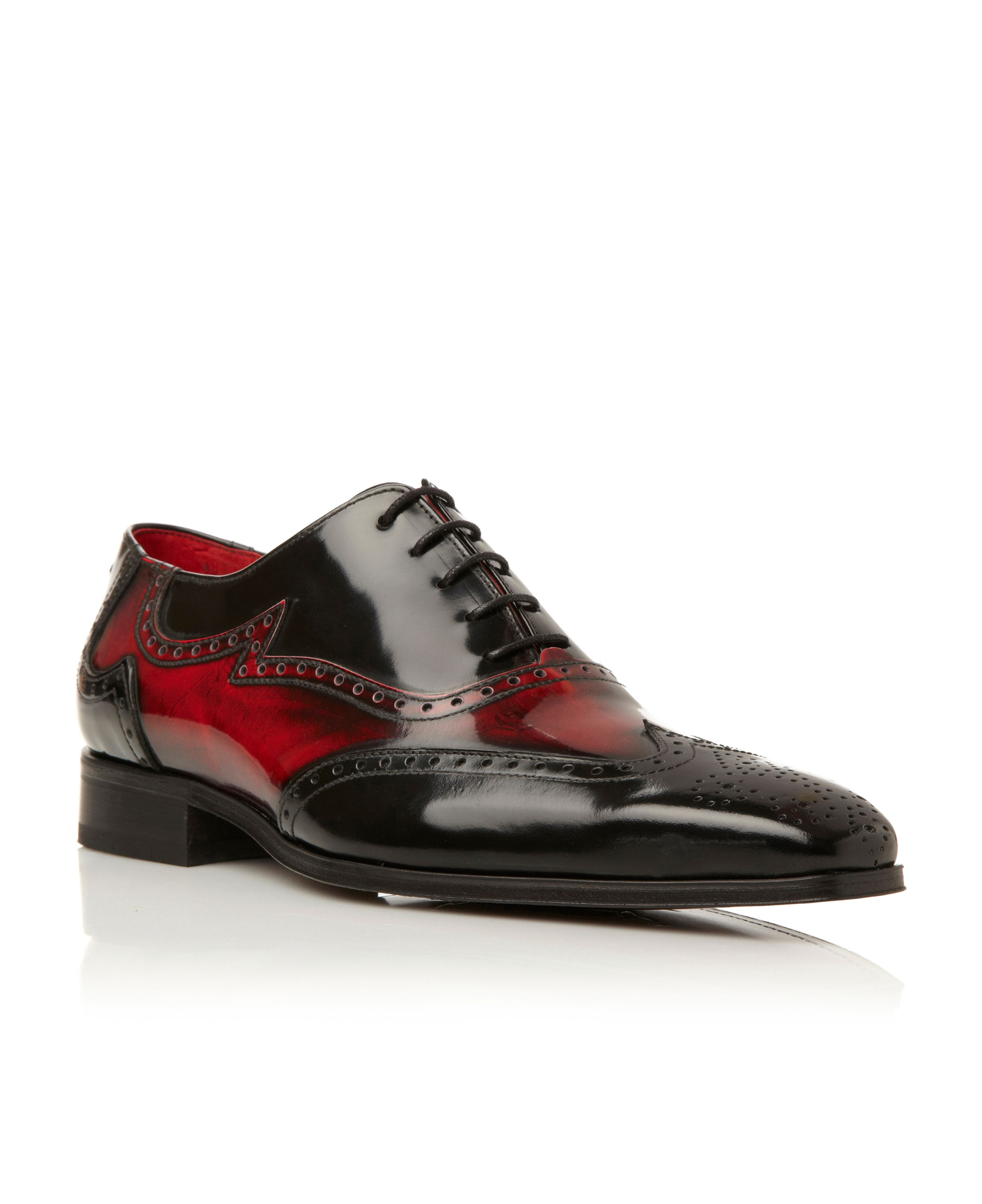 J637 contrast wingtip oxford