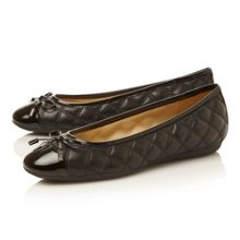 Lola D24M4L-quilted toecap bow ballerina shoes