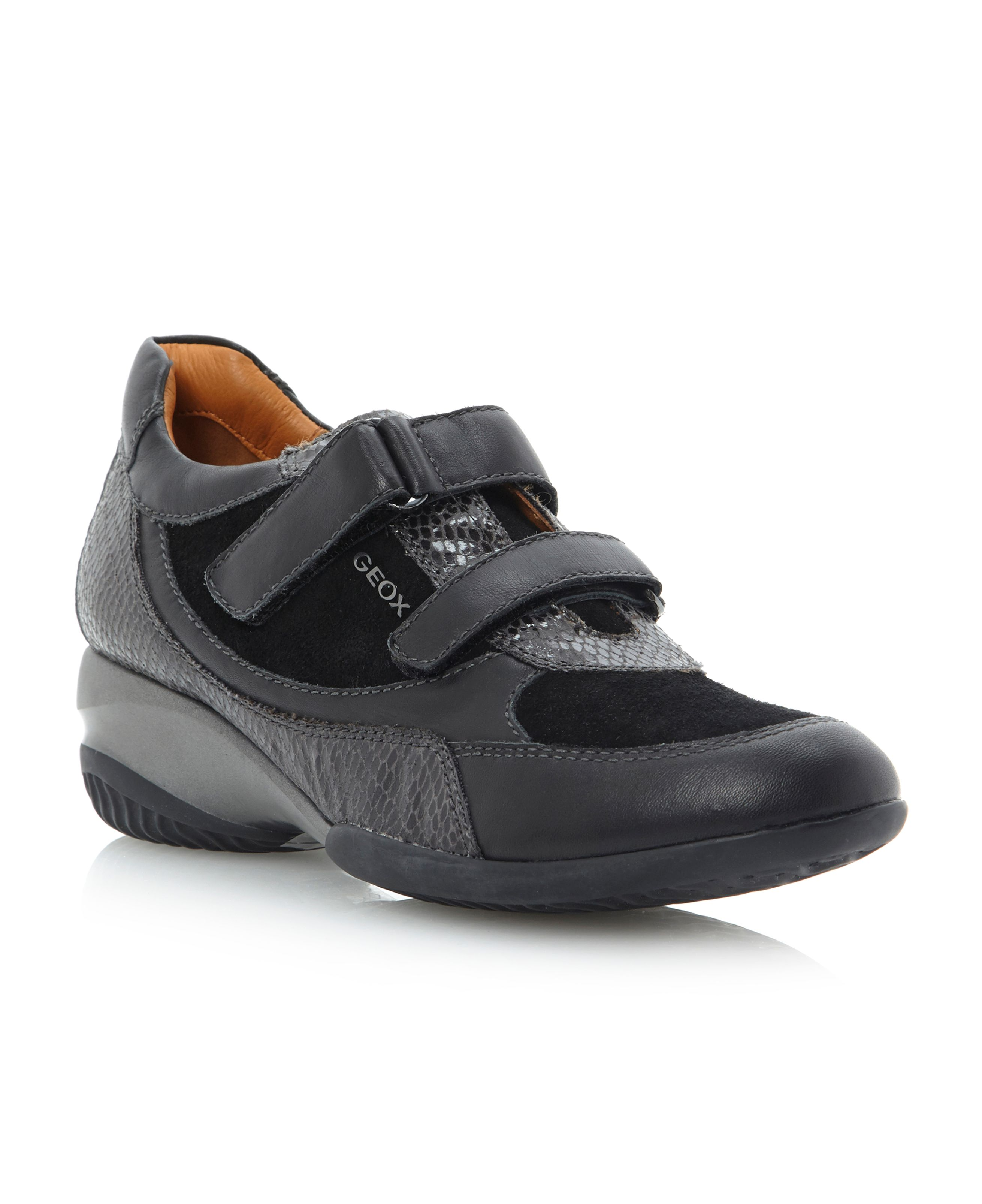 Ada D2482E-velcro strap wedge trainer shoes