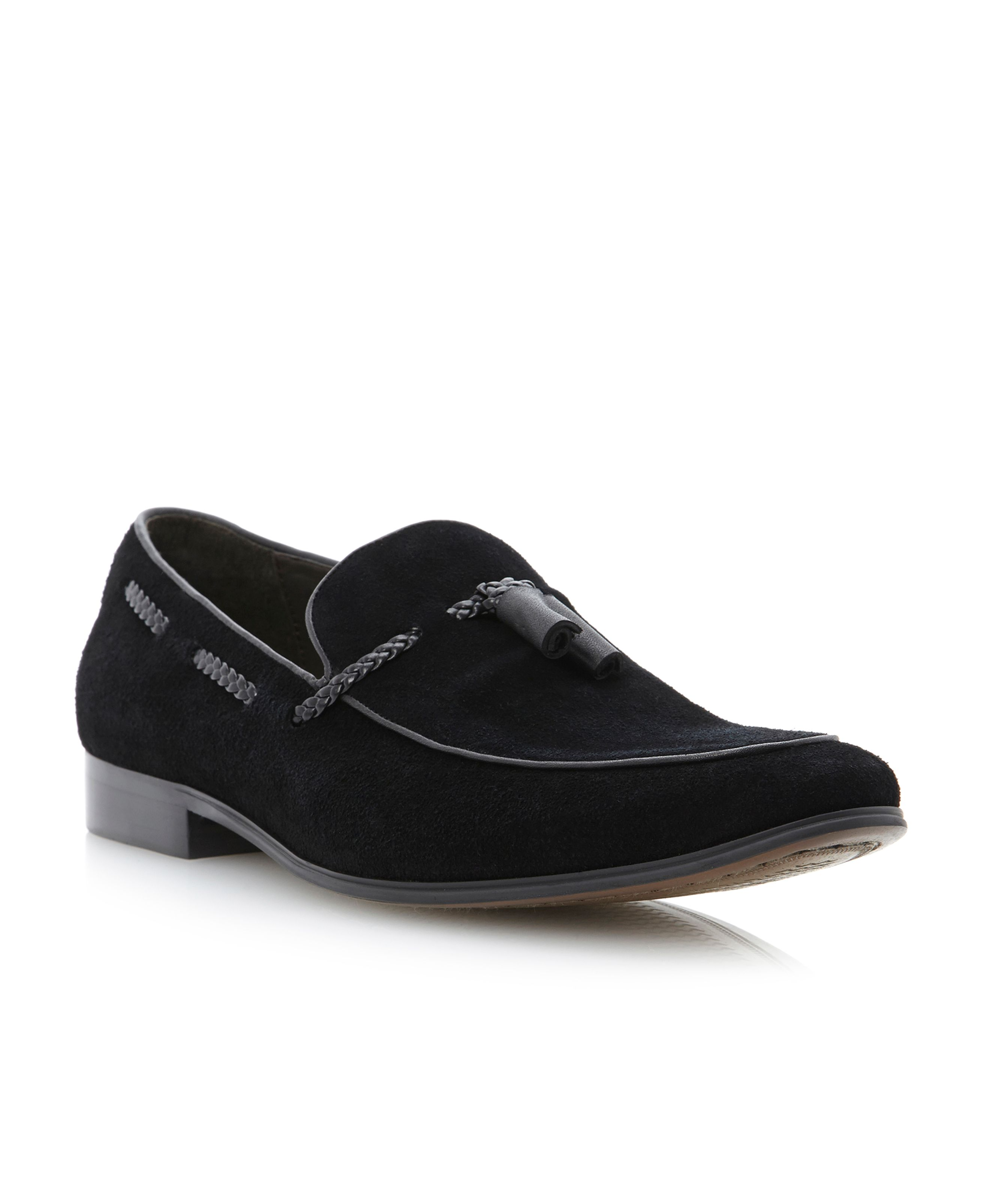 Ashfall-plaited detail tassle loafer