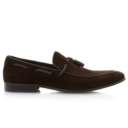 Dune Ashfall-plaited detail tassle loafer