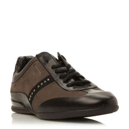 Hugo Boss Space select suede wingtip trainers