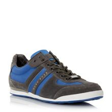 Hugo Boss Akeen mixed material trainers