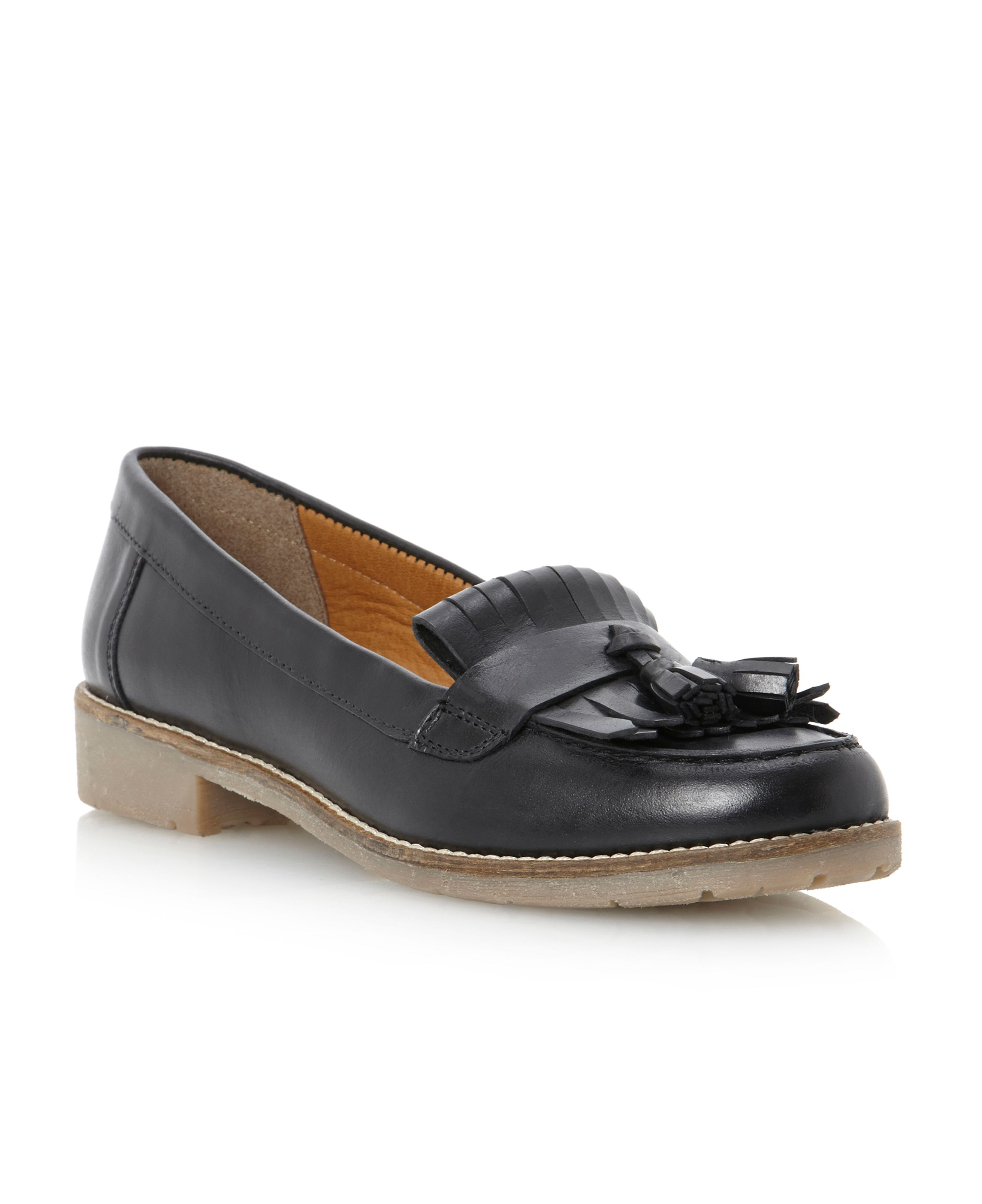 Libertie-crepe sole tassel loafer shoes