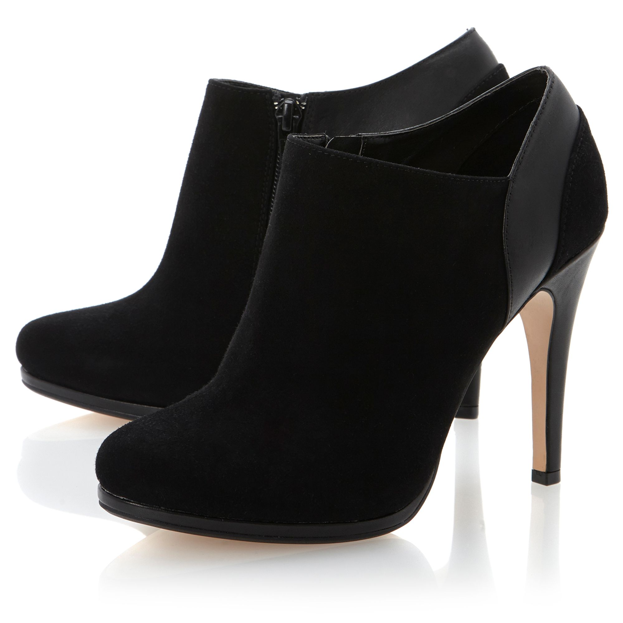 Adorn suede leather mix shoe boots