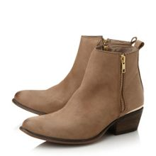 November zip detail ankle boots