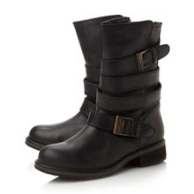 Kindell strap detail calf boots