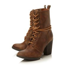 Jupiter-h sm heeled leather lace up boot