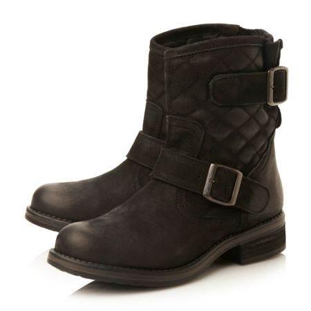 Steve Madden Denmark quilted leather ankle boots