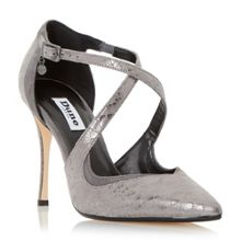 Darcey cross strap court shoes