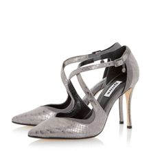Dune Darcey cross strap court shoes