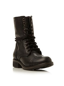 Troopa 2.0 sm leather lace up calf boot