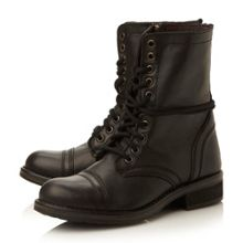 Steve Madden Troopa 2.0 sm leather lace up calf boot