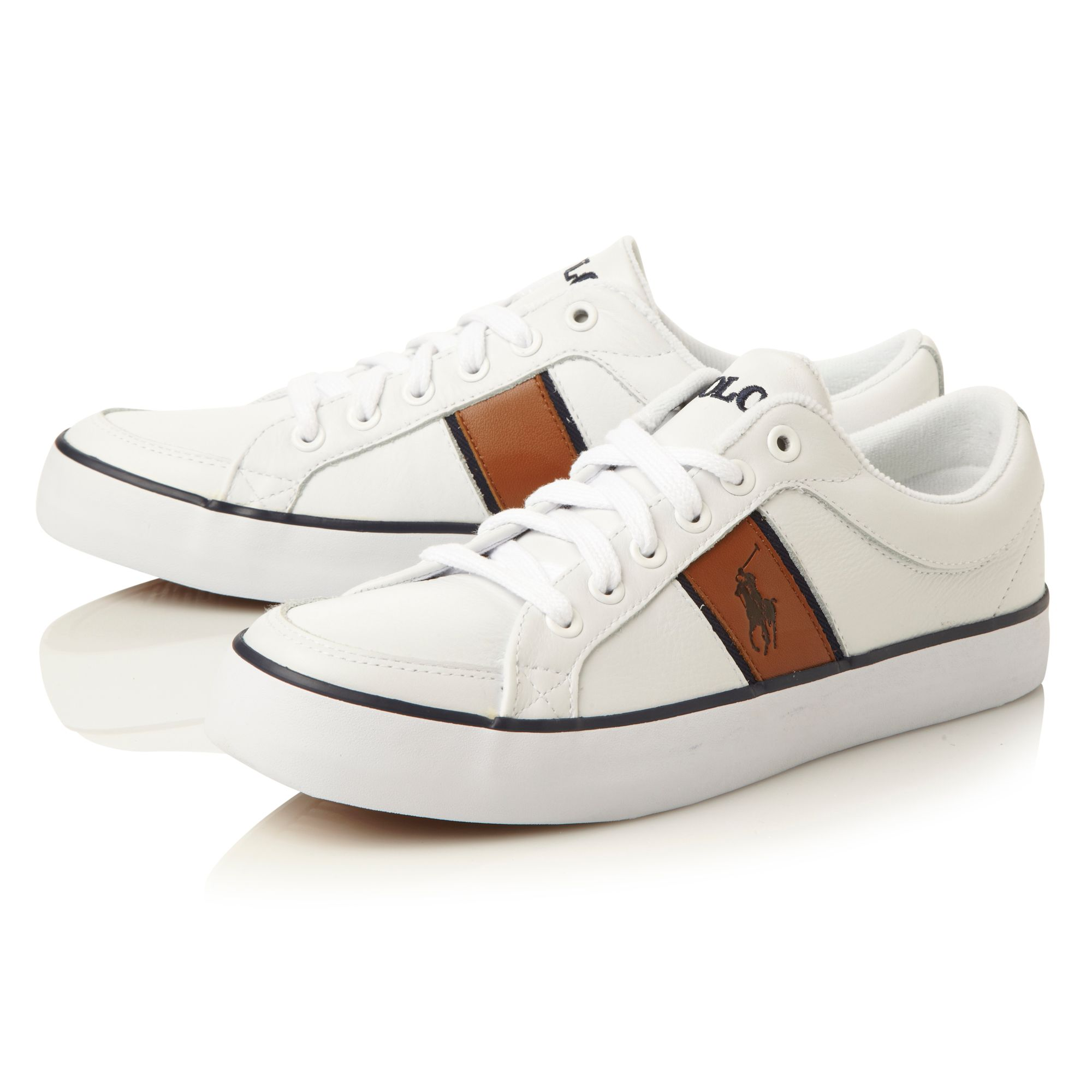 Bolingbrook leather logo casual trainer