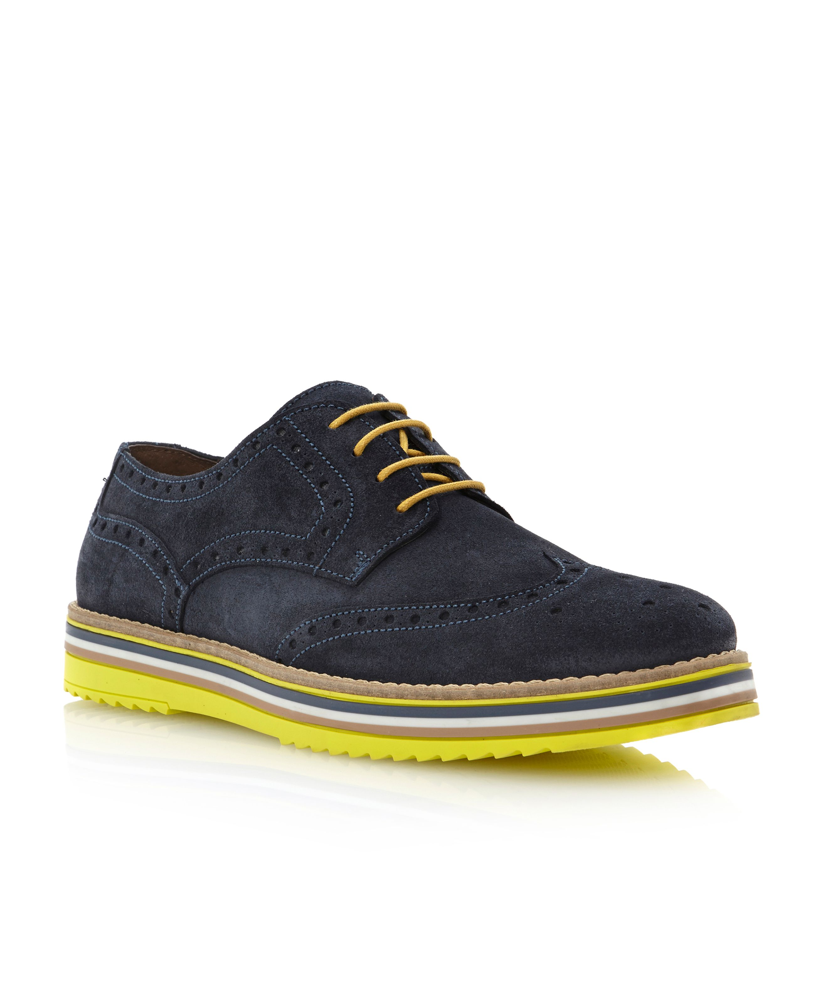 Bumbled-braid wedge brogue