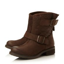 Denmark quilted leather ankle boots