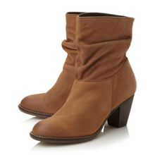 Welched ruched calf boot