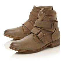Steve Madden Teritory-double buckle strap ankle boots