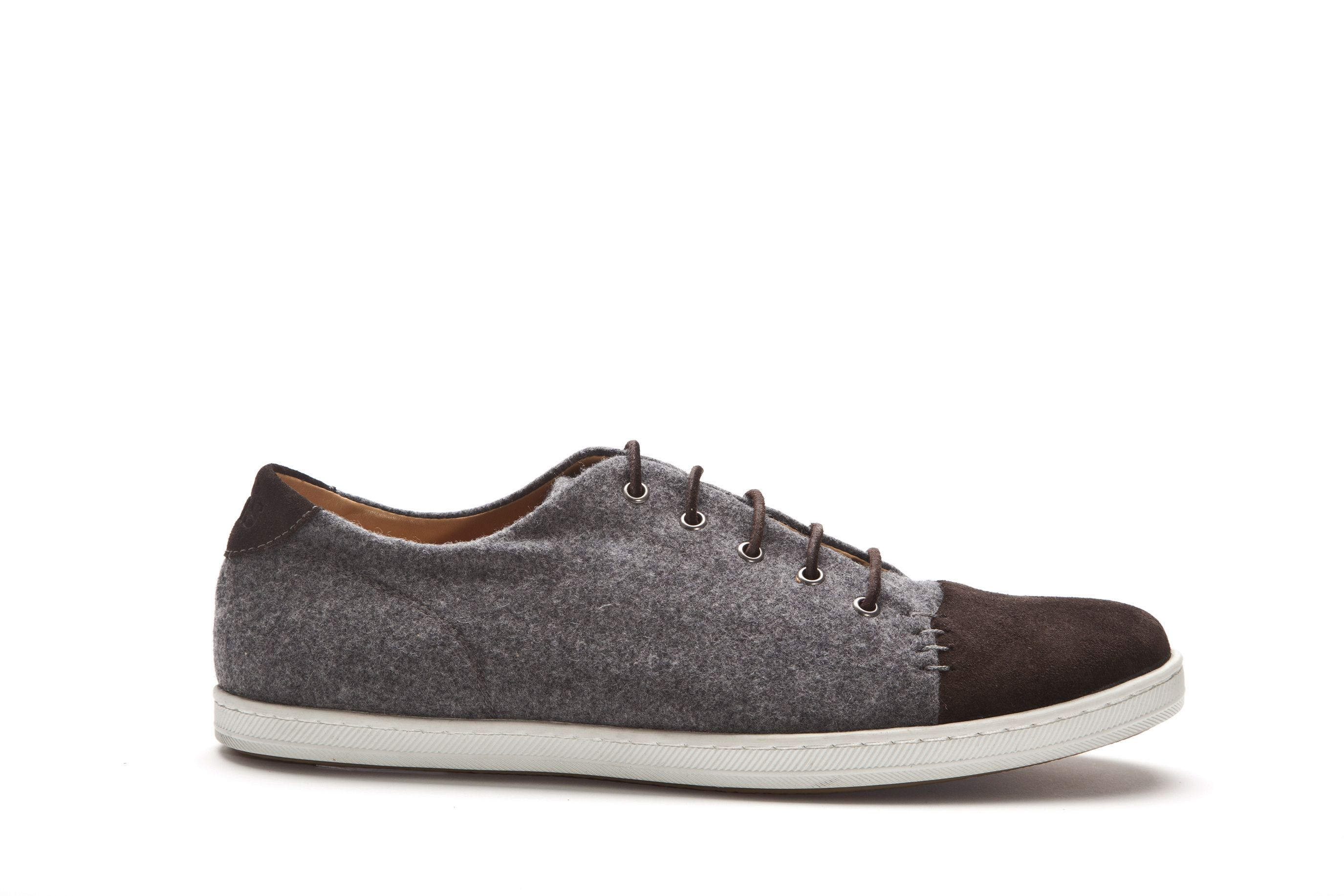 Desmond Deluxe grey wool trainers