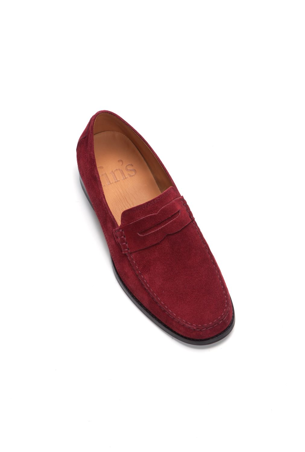 Peregrine red suede loafers