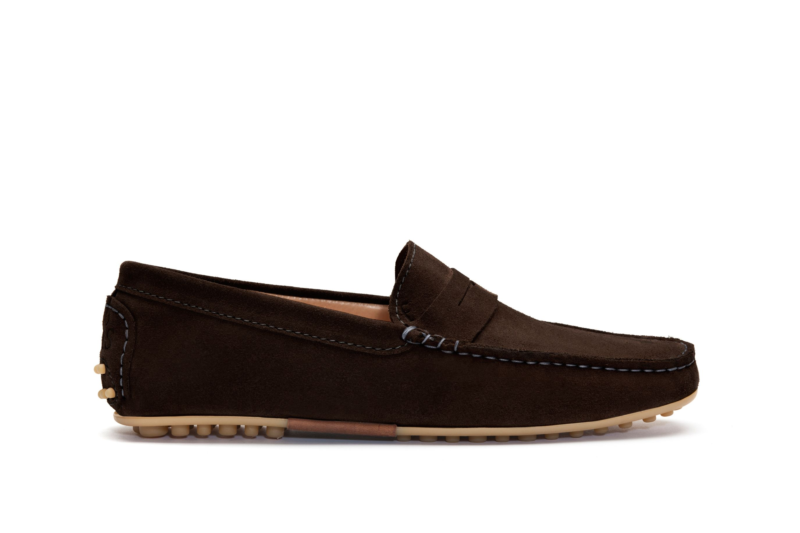 Bell Driver brown bobble sole moccasins